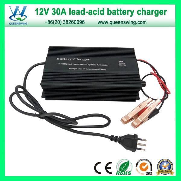 Queenswing 12V 30A Lead Acid/Gel Battery Charger (QW-B30A)