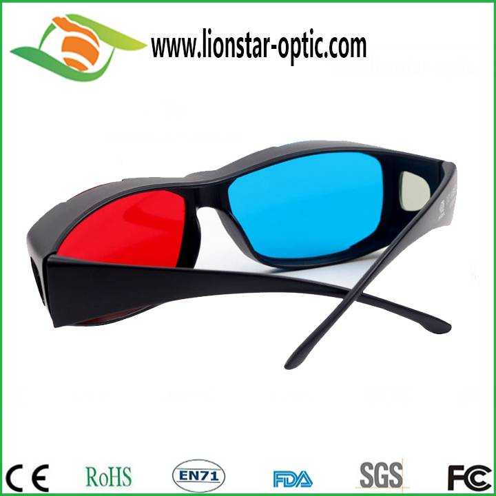 Top quality red cyan 3d glasses