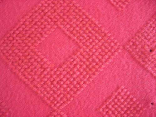 100% polyester nonwoven needle punched velour jacquard carpet