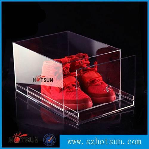 clear shoe box/ plexiglass sneaker box