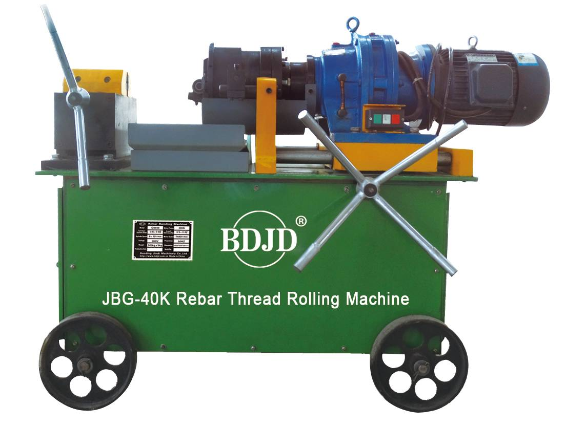 factory supply rebar thread rolling machine best price steel rebar thread rolling machine