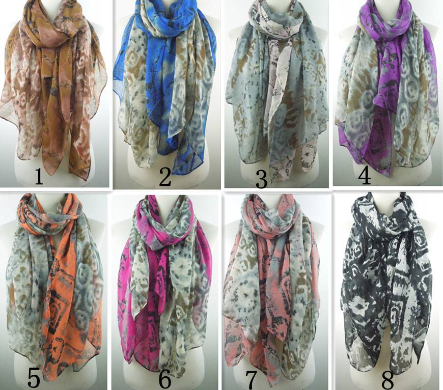 New fashional geometry diamond print scarves polyester scarves PG892