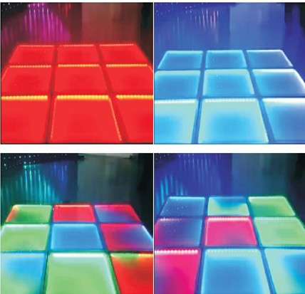 LED dyeing dance floor color changable floor rgb dance floor