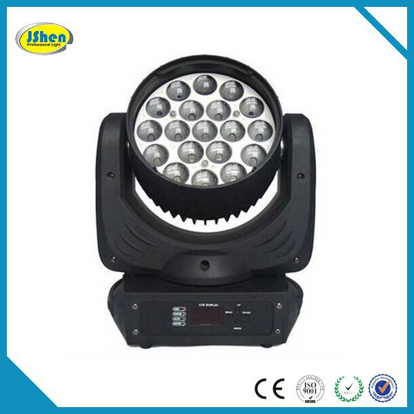 19X12W LED Moving Head Wash Zoom Beam