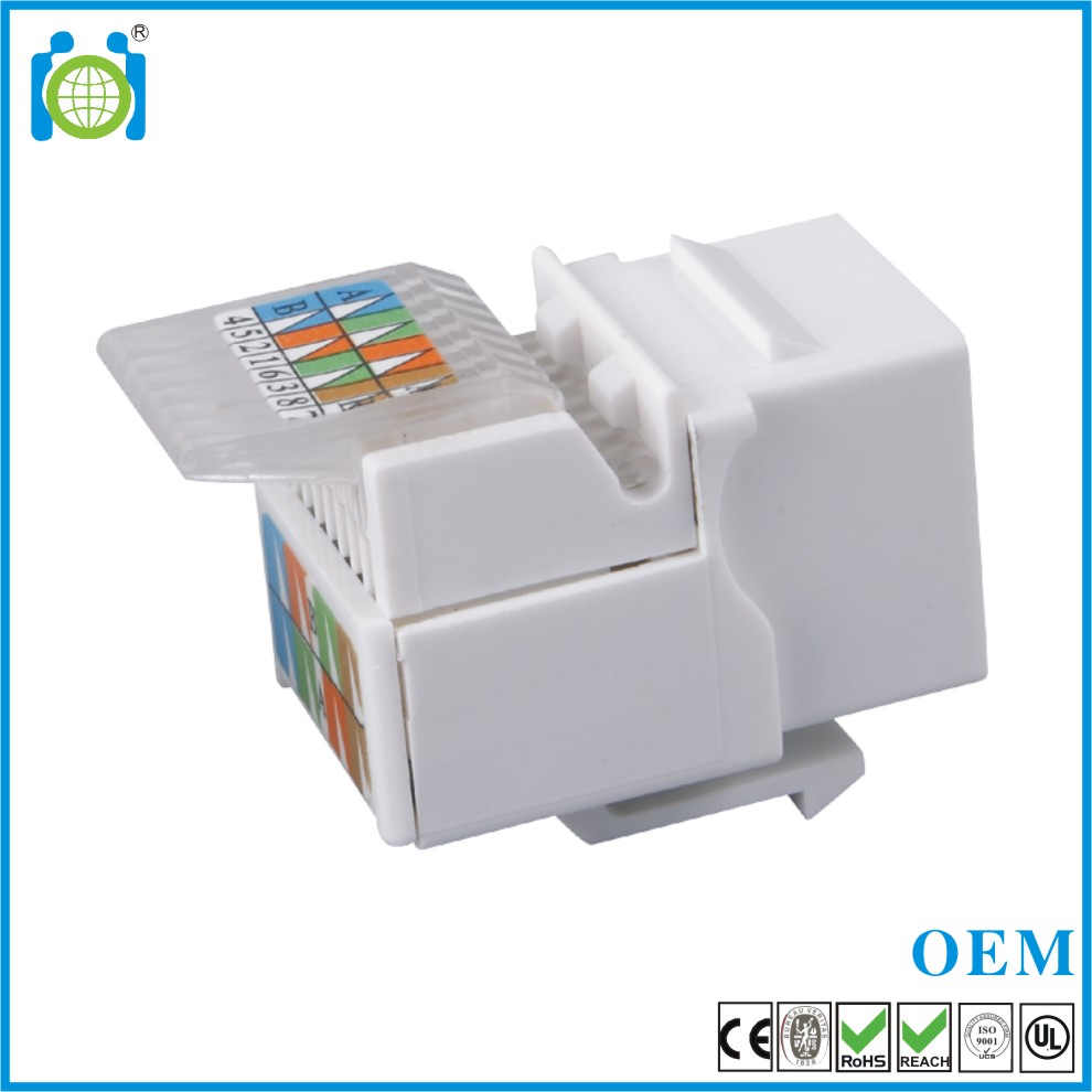 RJ45 Cat6 UTP Tooless keystone jack
