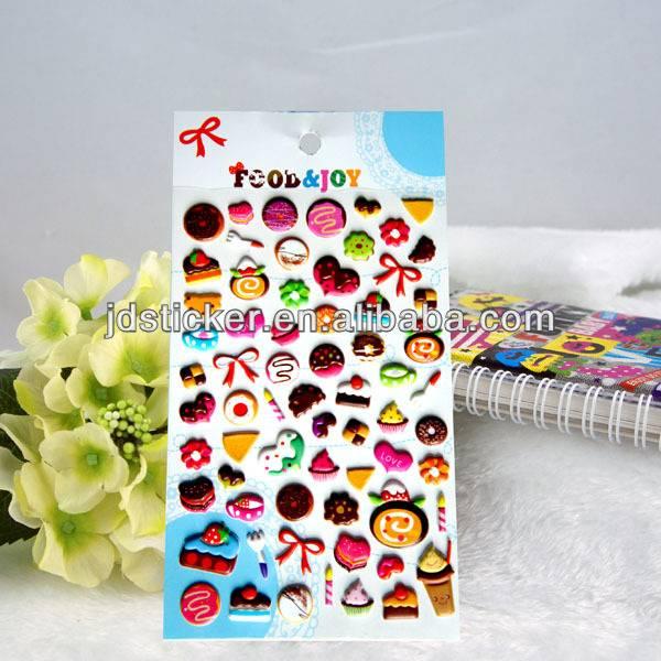 3D Fashional Colorful Custom Eco-friendly Puffy Sticker