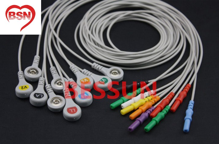 DIN holter 10ld ecg cable AHA SNAP