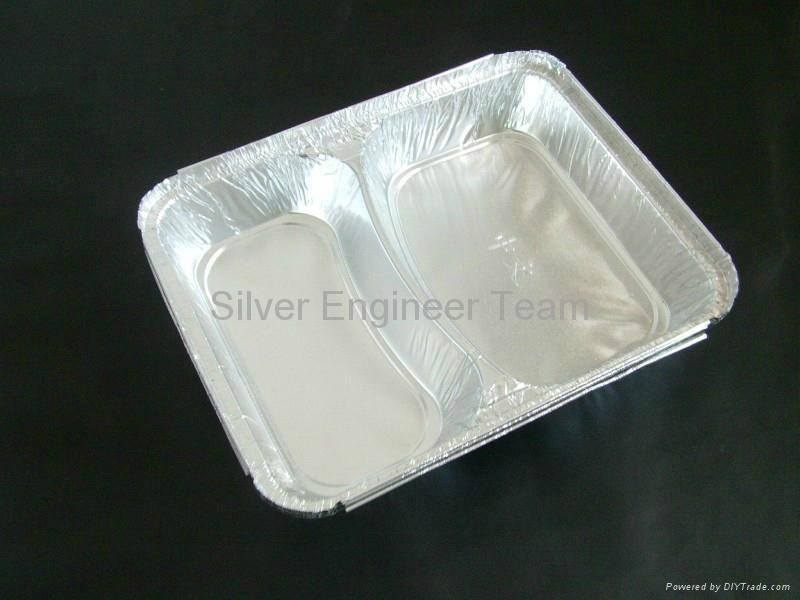 Aluminum Foil Two Department Container Mould