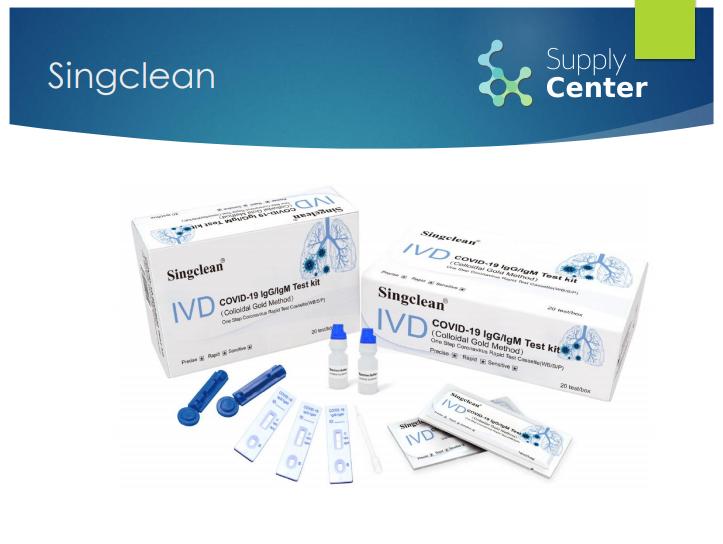 Supply Center - Singclean Covid - 19 lgG lgM Rapid Test Kit - Colloidal Method