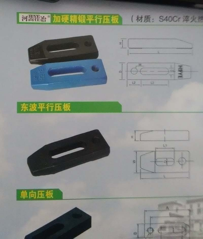 Forged and quenced parallel mold clamps