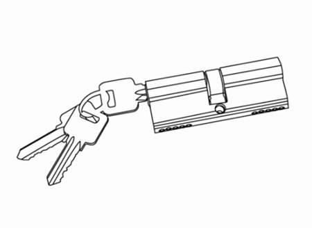 casement door handle set cylinder