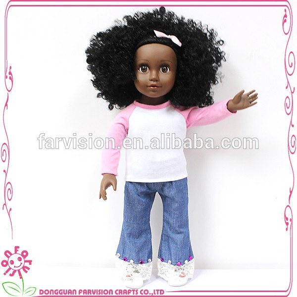 Afro-princess wholesale black dolls cute vinyl girl doll