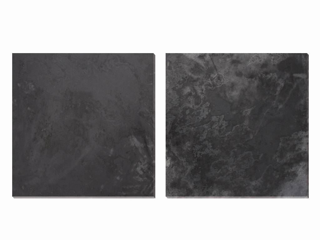Black slate stone tile ZF018 honed