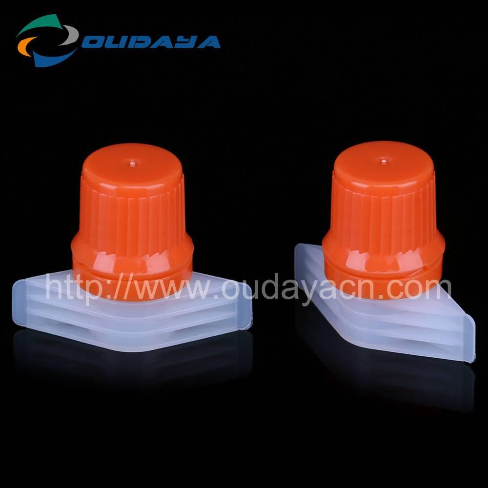 2016 hot sale PP/PE plastic spout cap and closures for doypack