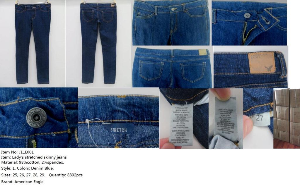 Lady's Stocklot AE Stretch Jeans