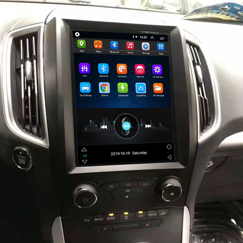 Vertical Screen 10.4 Inch Android Car Multimedia Navigation For Ford Edge 2015-2019
