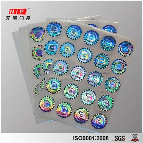 Personalized Logo Anti-Fake Hologram Sticker with SGS Certificated