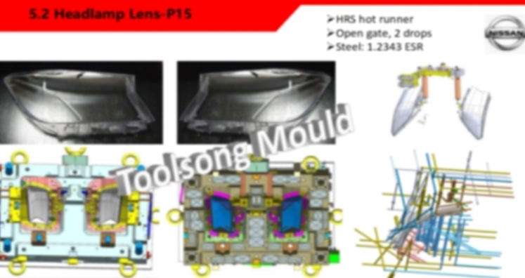 OEM Headlamp mould LH and RH clear lens