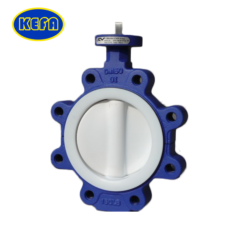 High Performance Lug Type Pinless Butterfly Valve