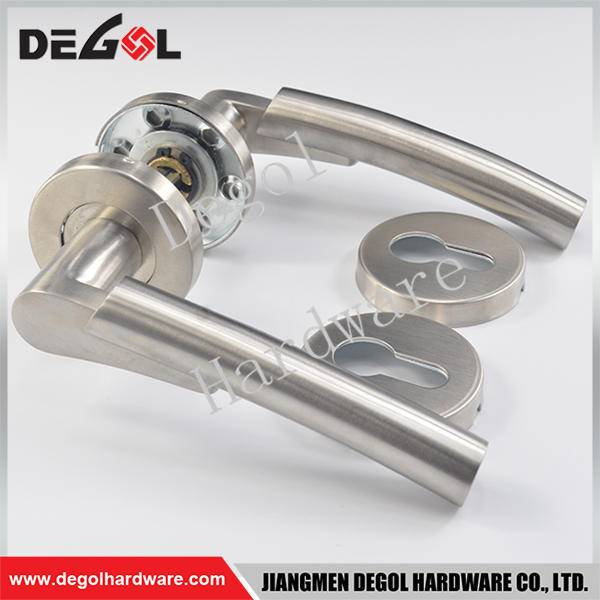 Latest stainless steel solid two tone door handle