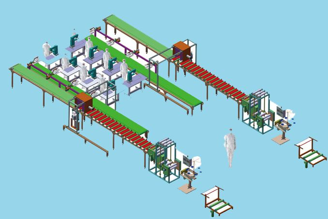 automatic filter bag production line