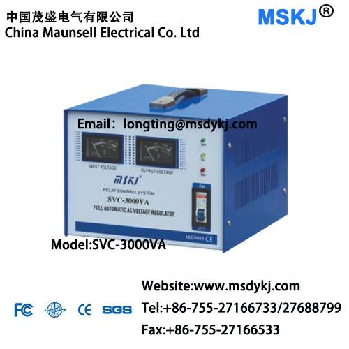 Automatic voltage regulator SVC-3000VA