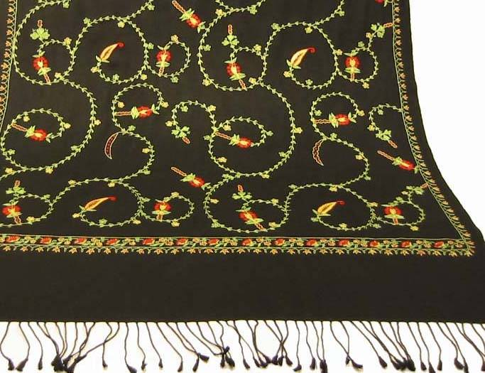 Hand Embroidered Pashmina Shawl