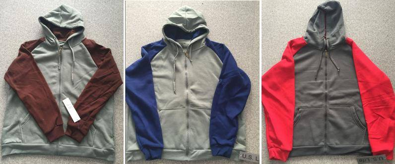 U.S.Life brand stock, 89,136pcs Men's fleece zipper hoody TC2-384