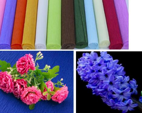Colorful crepe paper