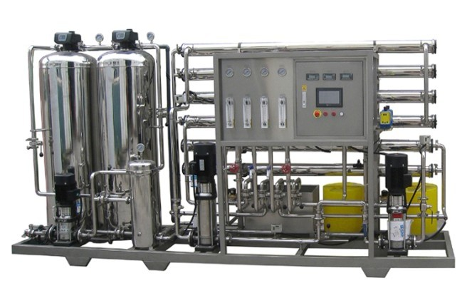 2000L/H RO Water Treatment Equipment / Water Purification Machine