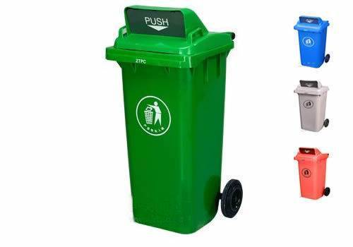 Plastic Trash Can 120L With Two Wheel