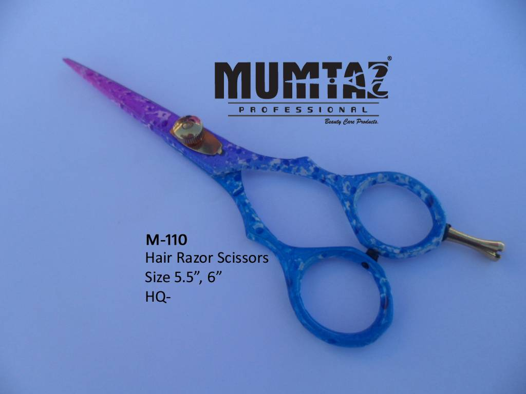 Hair Razor Scissors Pink Blue