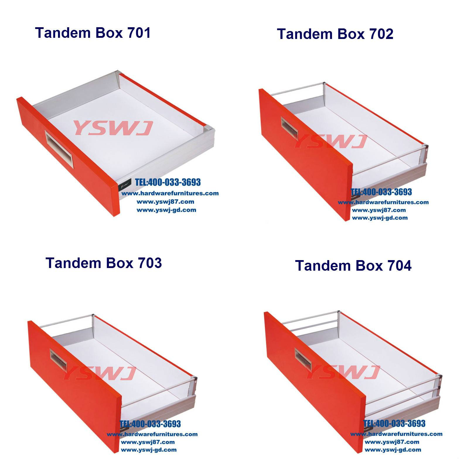 tandem box drawer slide