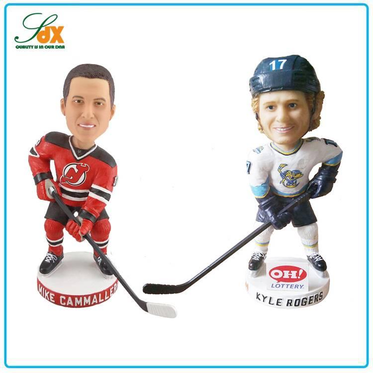 Bottom Price Custom Hot Sale Ice Hockey Player Bobble Head