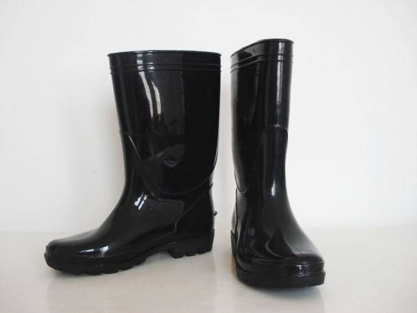 Black PVC Safety Working Boots