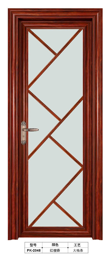 Waterproof and interior aluminum bathroom door PK-2048