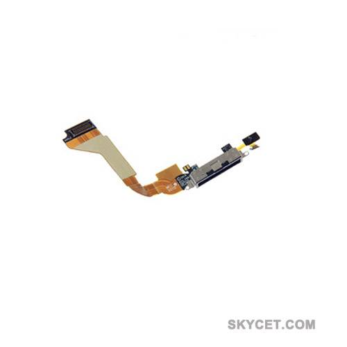 Dock Connector Flex Cable Replacement Parts For iPhone 4-Black-Original New