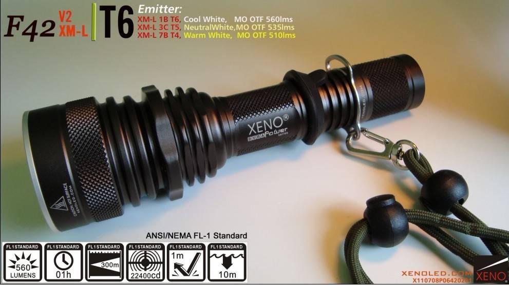 High power, Tactical LED Flashlight, XENO F42