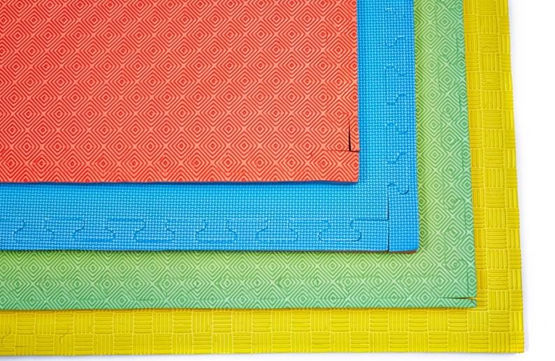 Thick Squares Floor Gym Mats Colorful