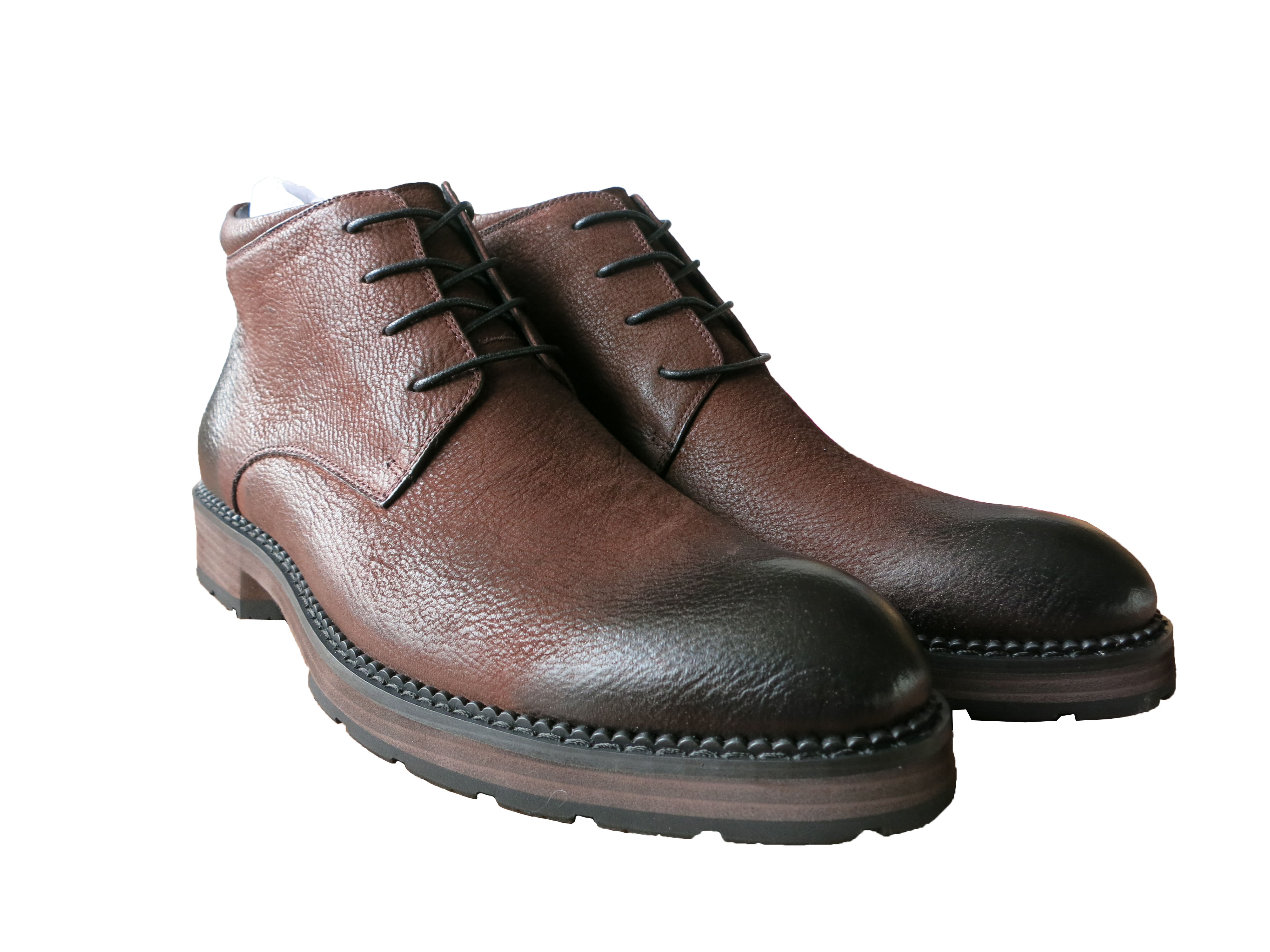 HUISUNG mens full grain leather boots