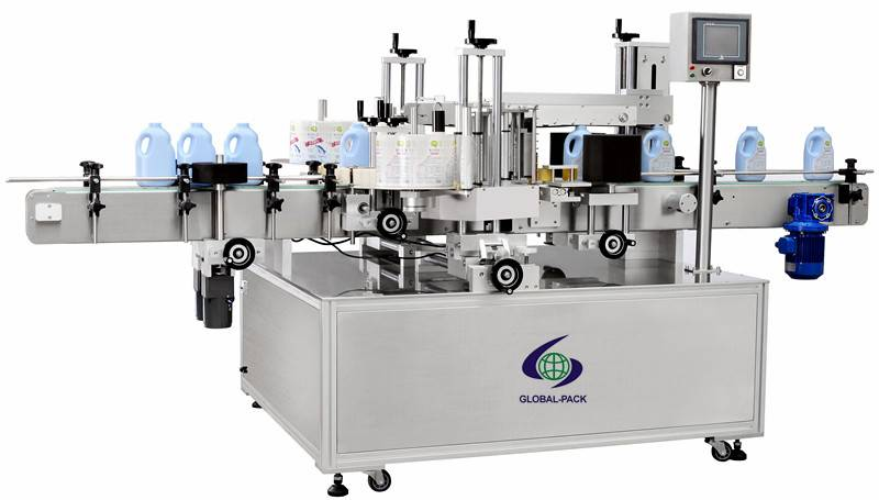 GLB-918 Automatic Double side bottle labeling machine with adhesive sticker