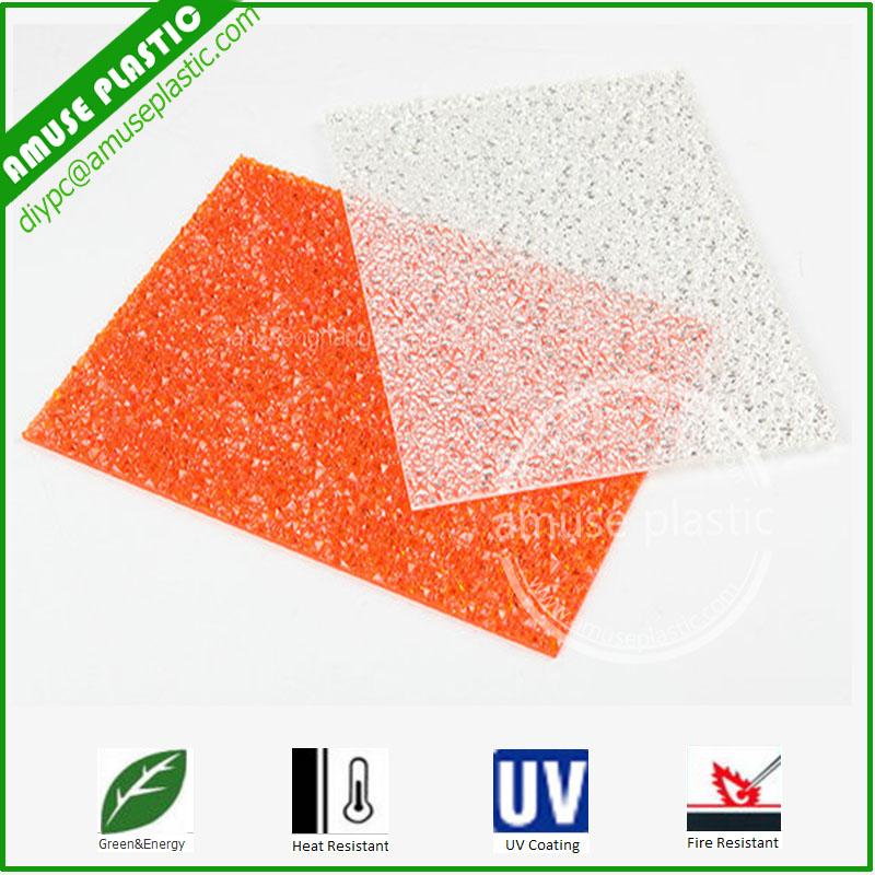 Impact Resistance Embossed Polycarbonate Sheet Durable Plastic PC Panels