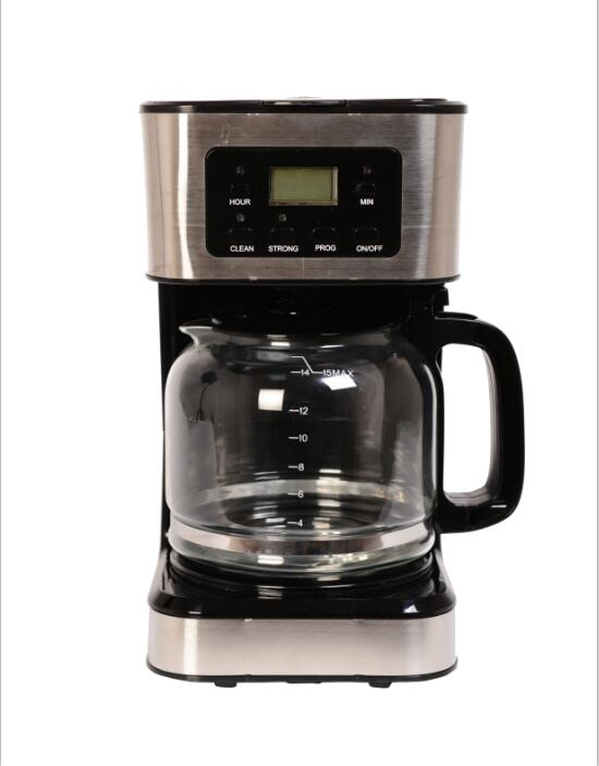 1.8L drip coffee maker with warm plate and high temperature glass