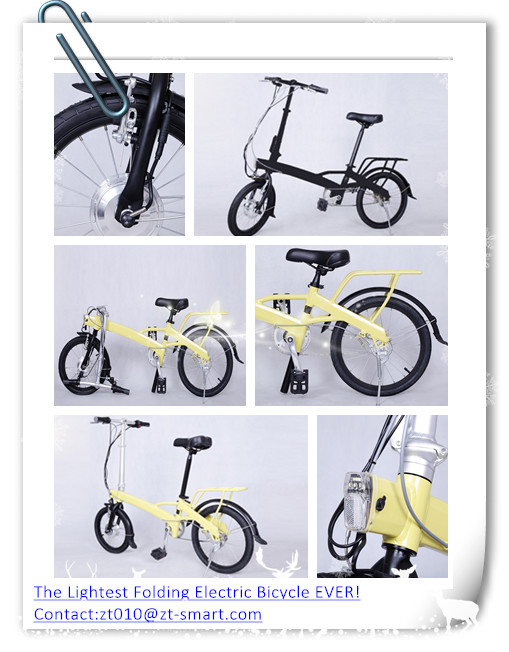folding electric bicycle E-bike ZT E-bike