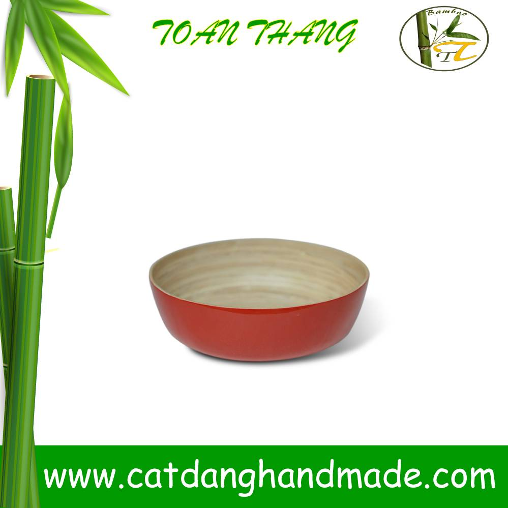 Bamboo lacquer bowl for food, for kitchenware