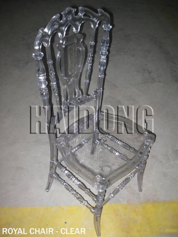 Crystal Resin Royal Chair