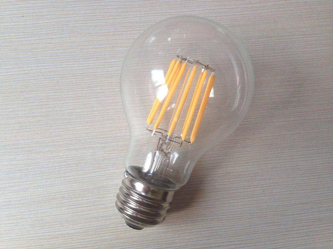 A55 A17 A19 A21 2W 4W 6W 8W E26 /E27 led filament bulb dimmable