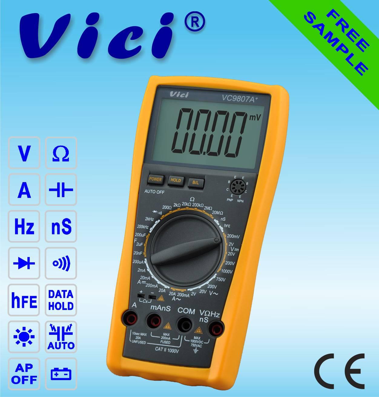 VC9807A+  4 1/2  Portable digital multimeter