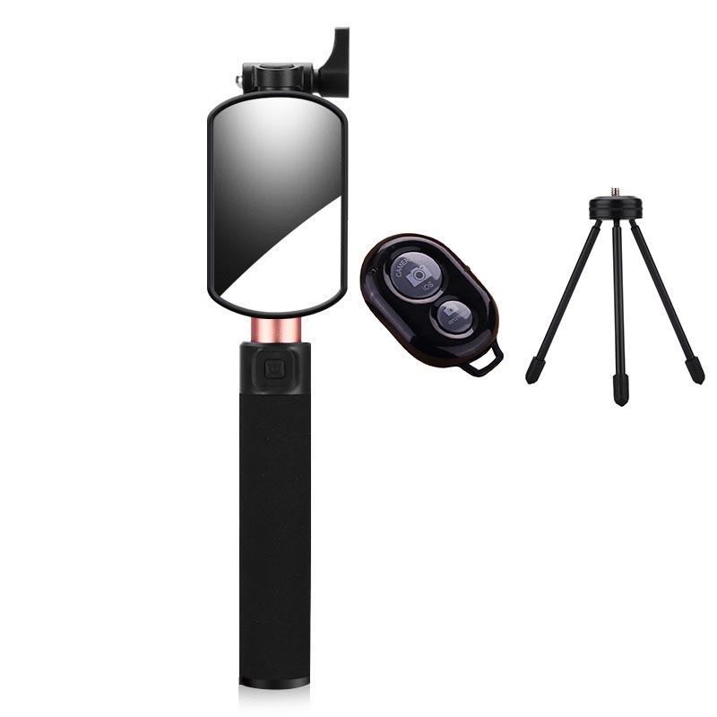 2017 New Aluminum Wired Selfie stick Built-in Remote Shutter