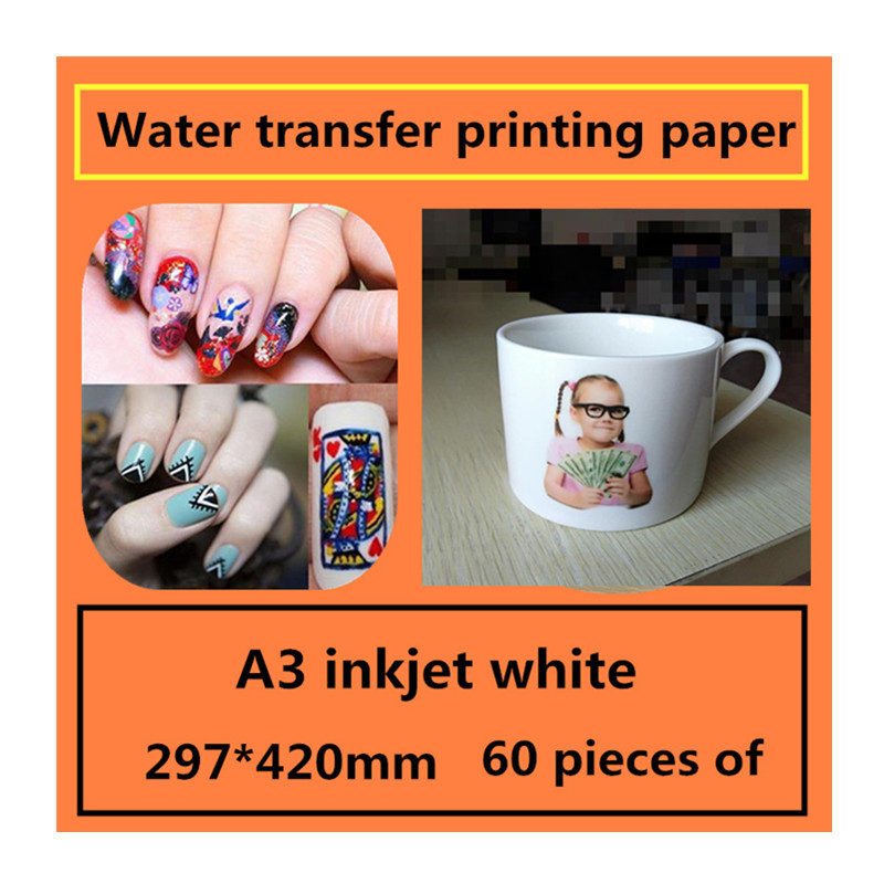 A3 inkjet white water transfer printing paper Decorative stickers design transfer